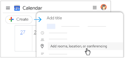 1. Schedule a video meeting from Calendar
